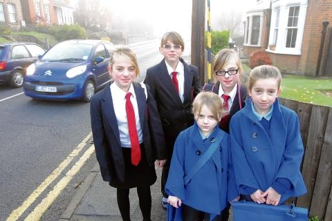 Halstead: Girls plea for new lollipop lady in busy road