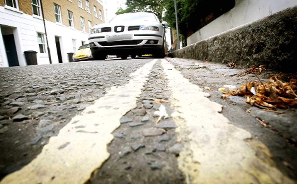 Three miles of yellow lines painted in just six months