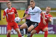 Dan Walker (pictured while playing for Hereford last year) has joined Eastleigh on loan.