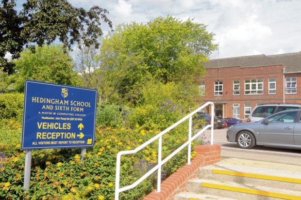Hedingham School closed during a previous strike
