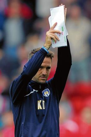 Saying goodbye - Karl Duguid played his final ever game for Colchester United after coming on as a second-half substitute in their 1-0 win at Walsall, last Saturday.