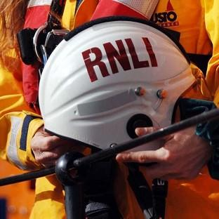 The RNLI was involved in the search for a person swept out to sea on New Year's Eve after going for a paddle in rough water