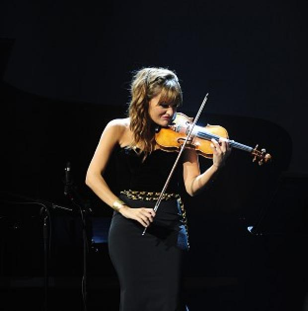 Halstead Gazette: Nicola Benedetti performs at the Classic Brit Awards 2013.