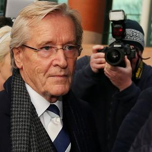 Halstead Gazette: Coronation Street actor William Roache arrives at Preston Crown Court