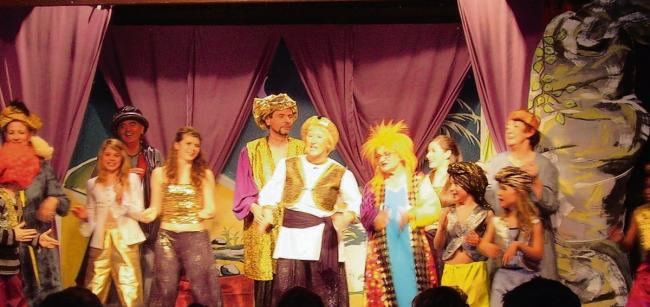 Members of Colne Engaine Dramatic Society during a performance of Ali Baba during 2011