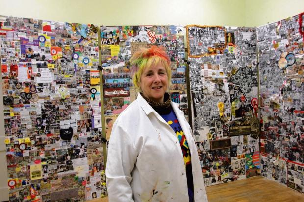 Georgie Roy at one of her exhibitions