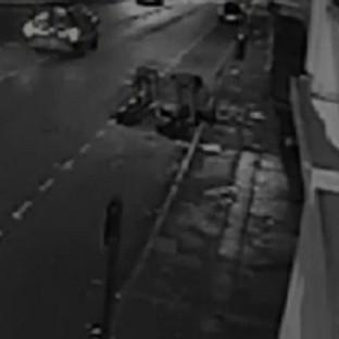 Halstead Gazette: CCTV footage of a robbery victim being knocked unconscious by a single punch as he walked home from a party.