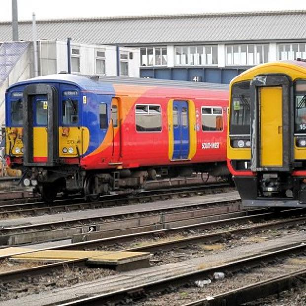 Halstead Gazette: South West Trains services into Waterloo were hit by power supply problems and poor rail conditions