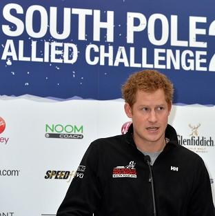 Halstead Gazette: Prince Harry speaks at the Walking With The Wounded South Pole Allied Challenge welcome home press conference