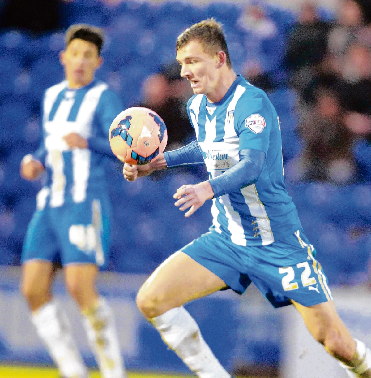 Back in the fold - Alex Gilbey is set to return from injury to feature for Colchester United at Bishop's Stortford tonight.