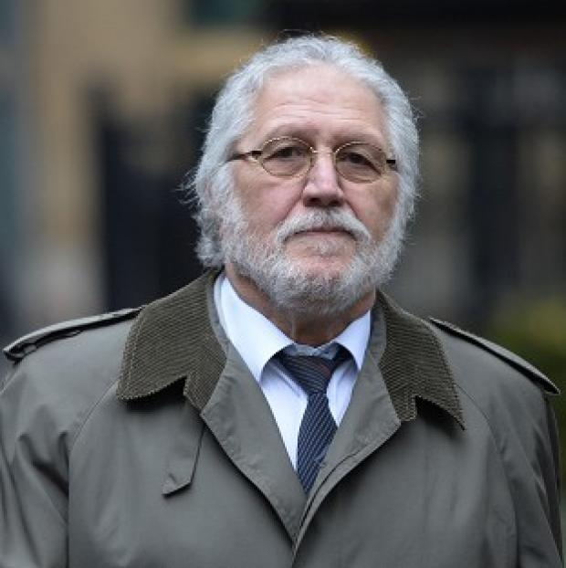 Halstead Gazette: Former DJ Dave Lee Travis arrives at Southwark Crown Court in London, where he is accused of a series of indecent assaults and one sexual assault