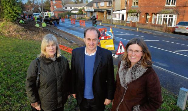 Villagers welcome new layby on busy road