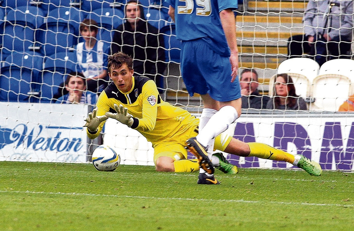 Safe hands - Sam Walker has been backed to get even better for Colchester United, this season. Picture: STEVE ARGENT