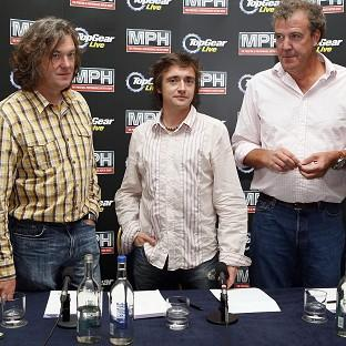 Top Gear presenters (left-right) James May, Richard Hammond and Jeremy Clarkson