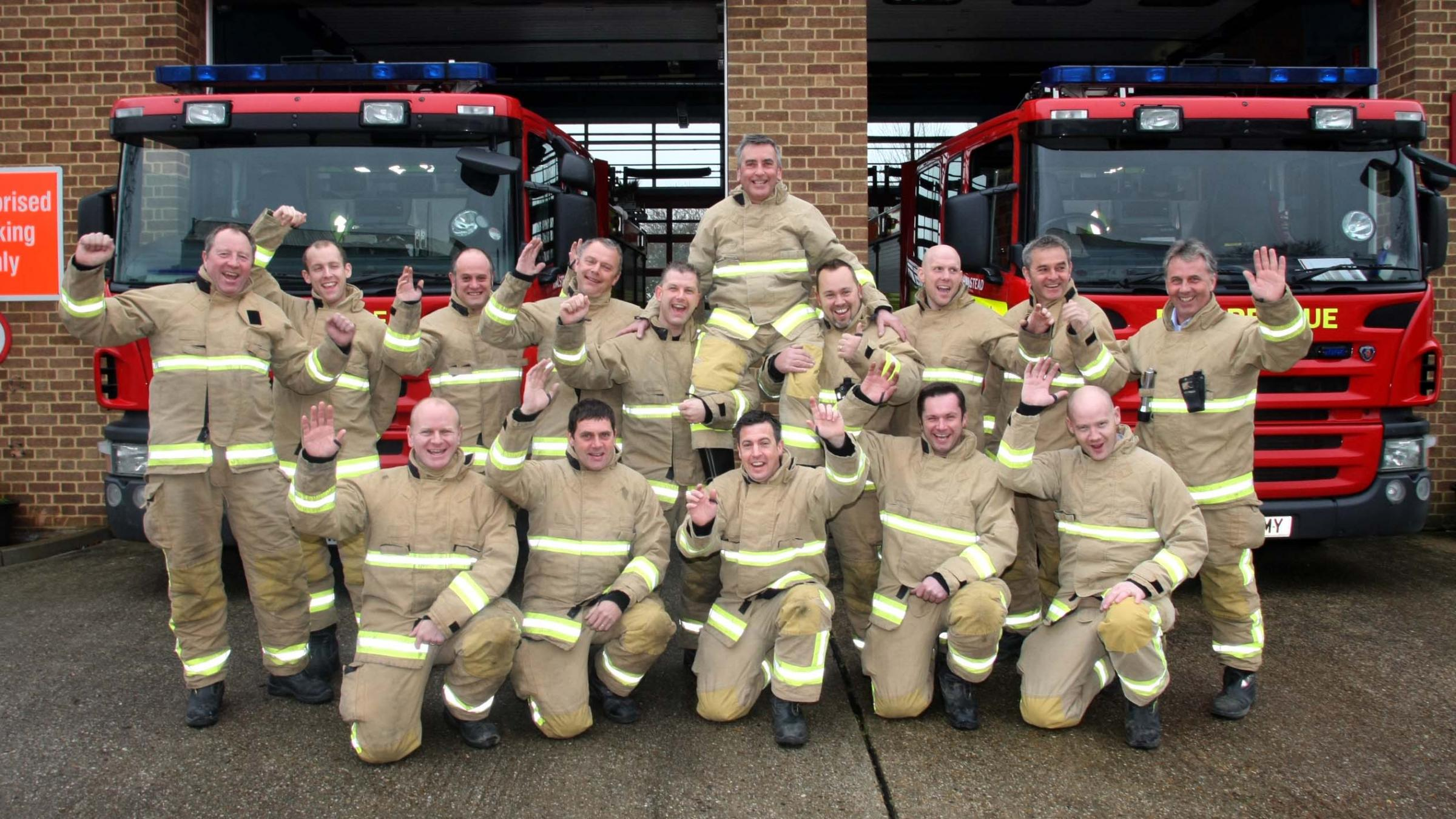 Peter Robertson hangs up his helmet after 30 years' service at Halstead Fire Station.