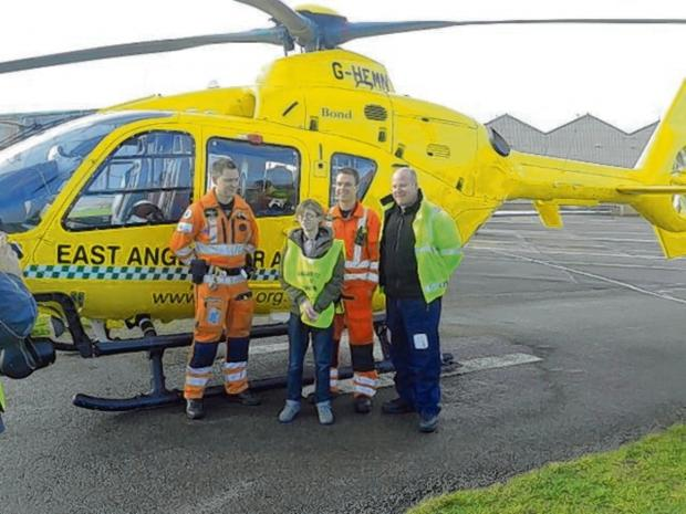 Paramedic Chris Neil, Hadyn, Doctor Adam Chesters and pilot Chris Sherriff.