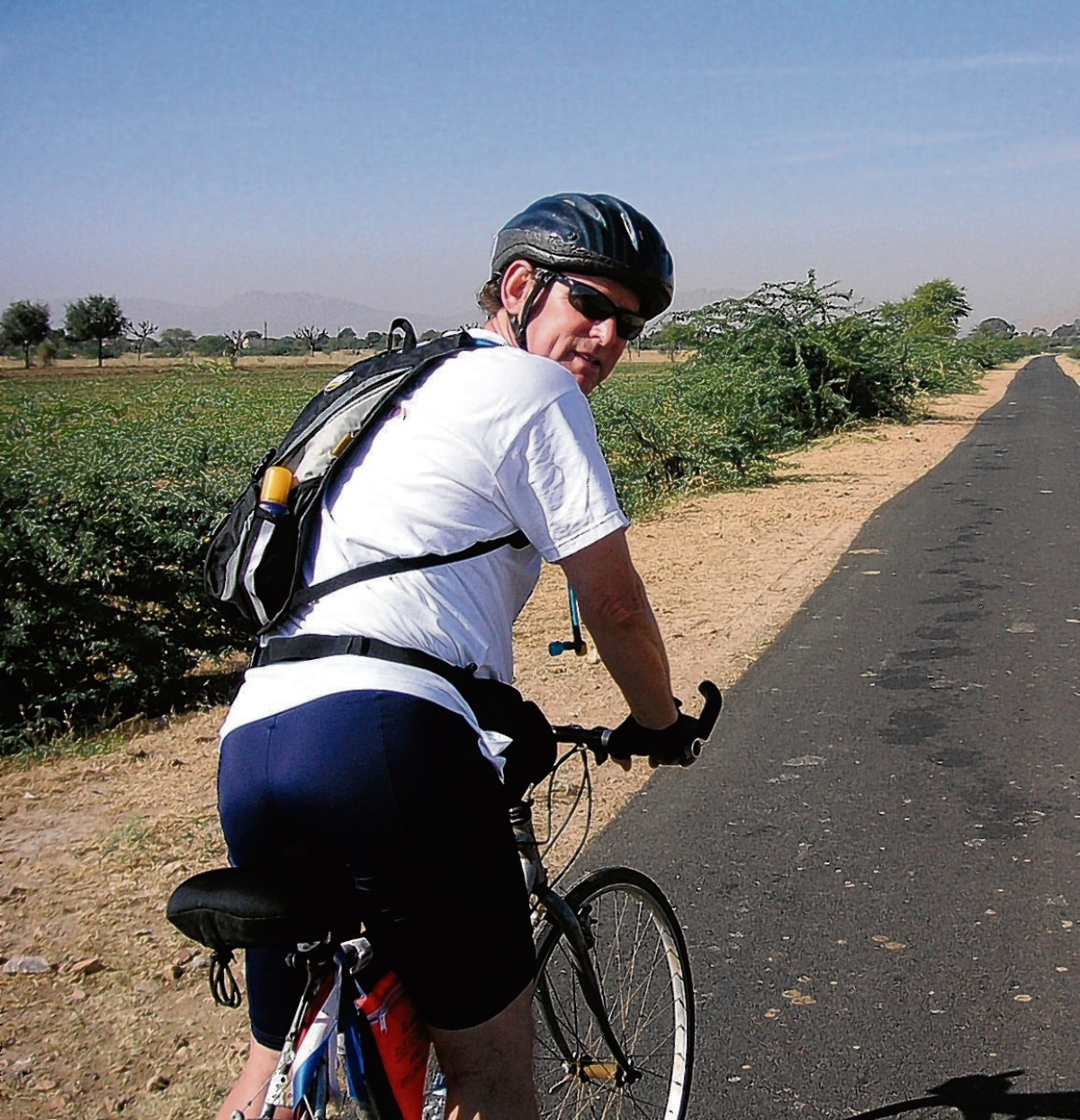 Alcohol charity founder cycles 500km across