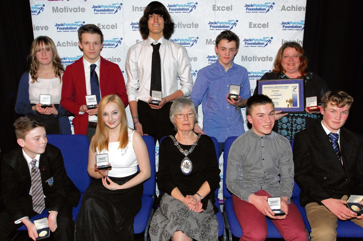 Pupils presented with awards for their hard work by the Jack Petchey Foundation