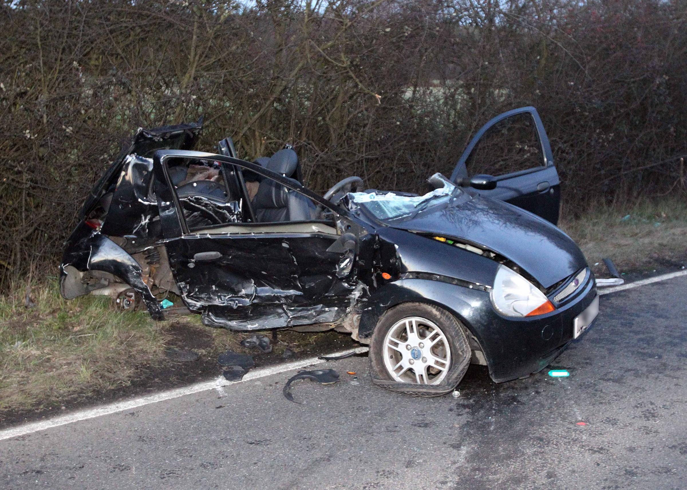 Woman in critical condition following A131 crash