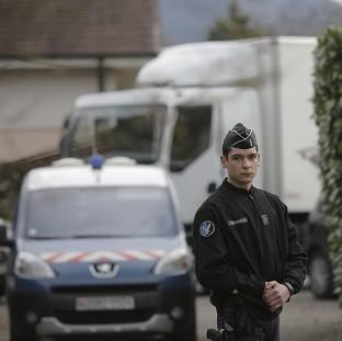 Police in the French Alps are questioning a man over the murders of a British engineer and his family