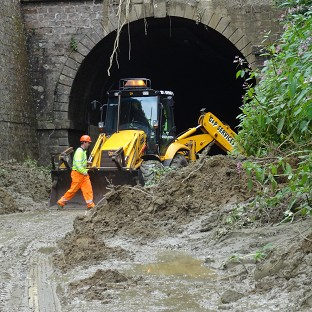 The Beaminster Tunnel was the scene of the fatal mudslide.