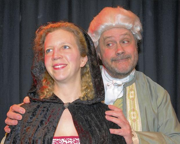 Peter Drew as Mr Hardcastle and Lorna Hollister as Kate Hardcastle