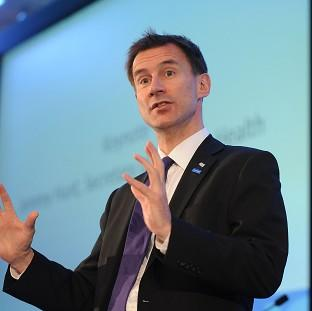 Jeremy Hunt says the NHS is 'on the cusp' of an exciting technological revolution