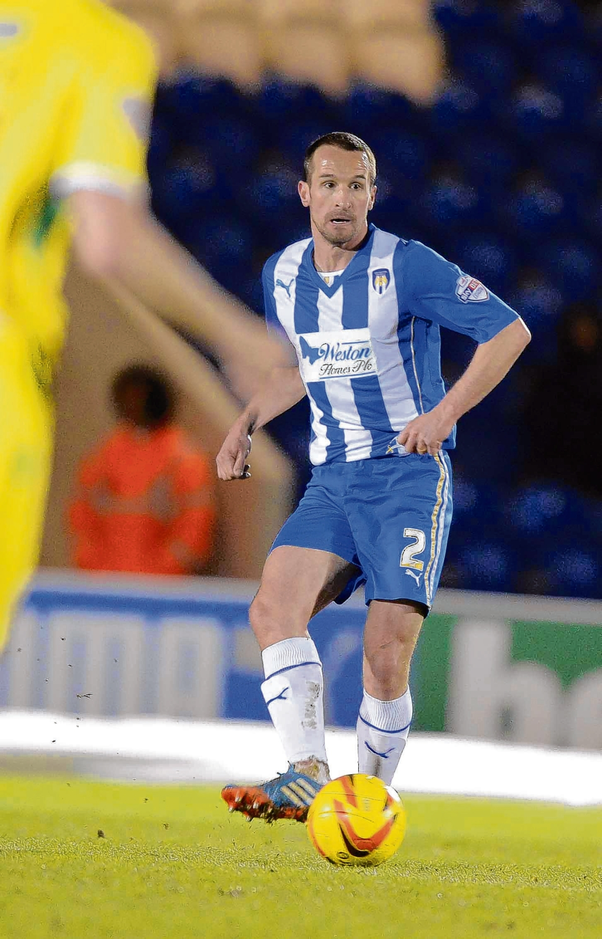 Staying put - David Wright has signed a new one-year deal with Colchester United.