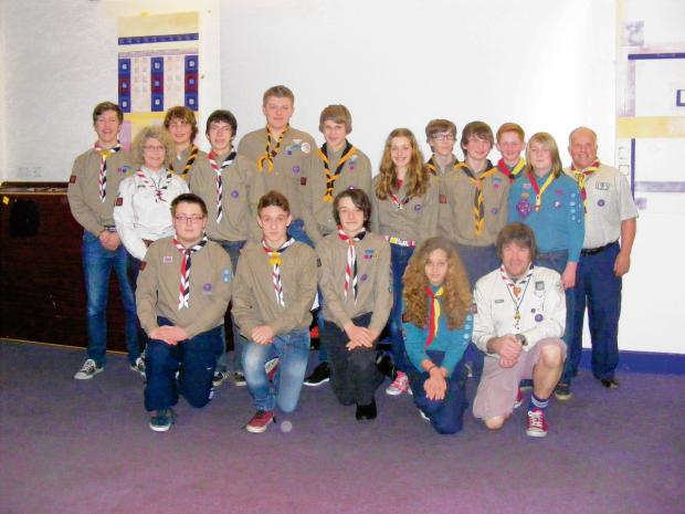 The Scouts are working hard to raise the money for their trip