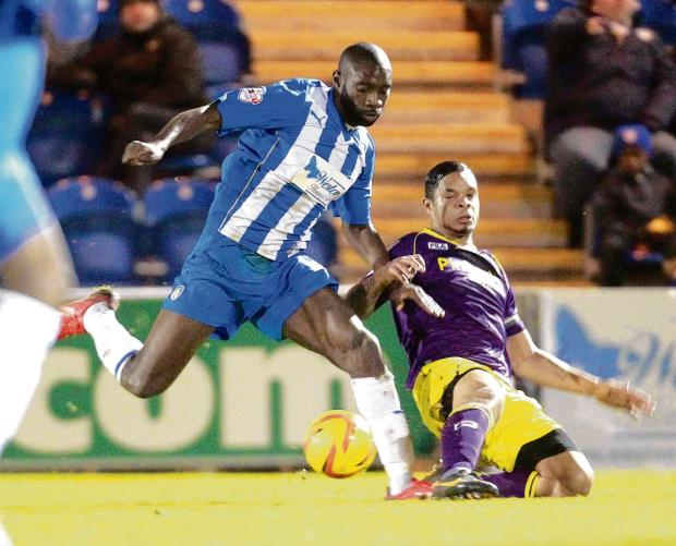 On target - Jabo Ibehre scored for Colchester United in their friendly at Luton Town.