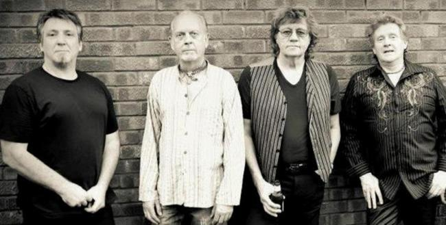 (Left to right) Tony Kelsey, Trevor Burton, Bev Bevan and Phil Tree