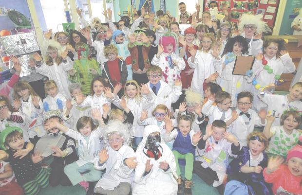 Aliens and mad professors invaded a village primary school as pupils celebrated Science Week