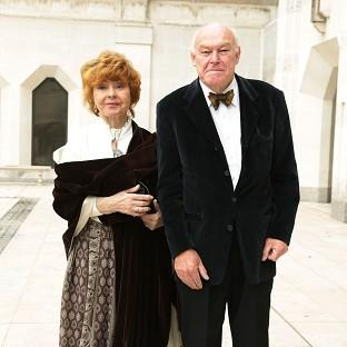 Timothy West and his wife Prunella Scales