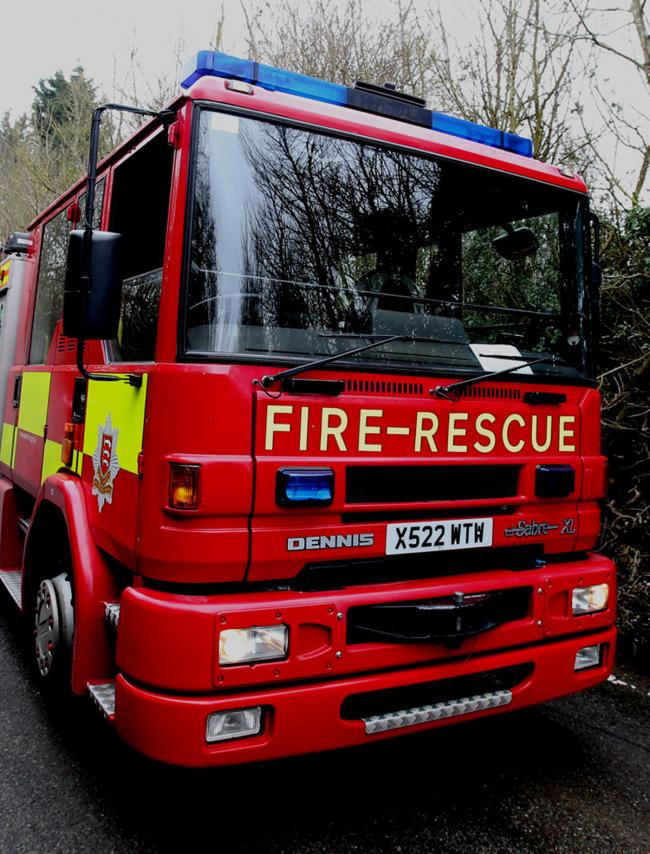 Billericay car fire causing traffic problems