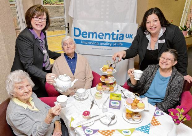 Residents of Colne View Care Home at a previous event for Dementia UK