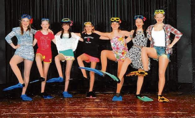 Halstead Gazette: Some of the dancers rehearse for their show 'Smile'