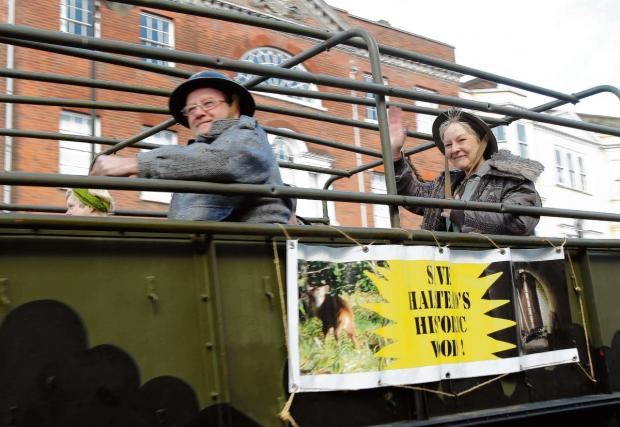 Military convoy calls housing campaigners to arms