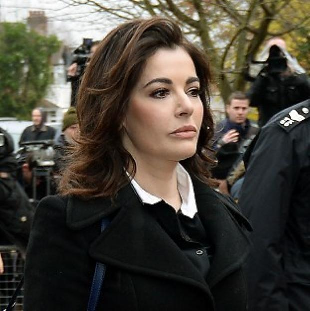 Halstead Gazette: Nigella Lawson arriving gave evidence in the case against two of her former personal assistants