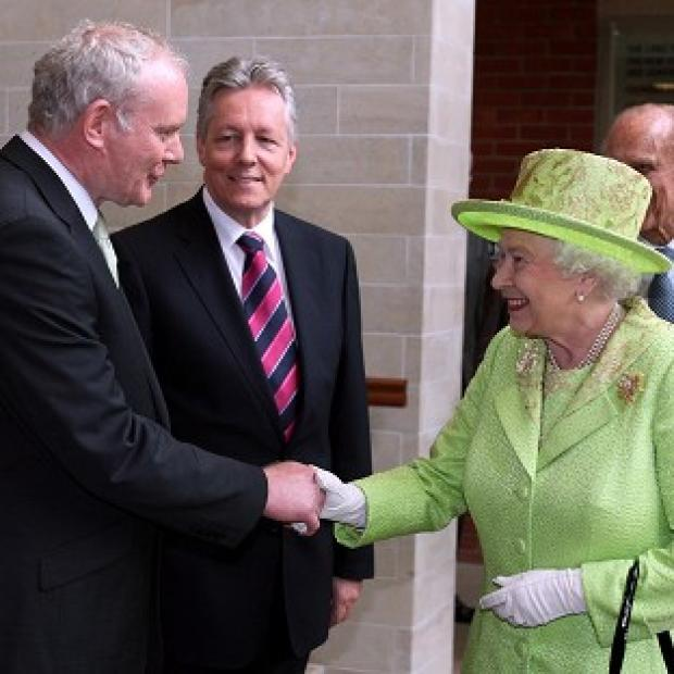 Halstead Gazette: Martin McGuinness, left, will attend a state banquet at Windsor Castle hosted by the Queen, during an official visit by Irish President Michael D Higgins to the UK next week