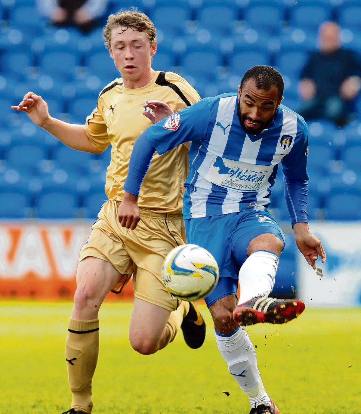 Middle man - Dominic Vose is targeting a regular spot at the heart of Colchester United's attack.