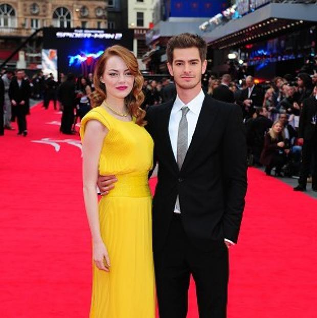 Halstead Gazette: Emma Stone and Andrew Garfield arriving for the world premiere of The Amazing Spider-Man 2