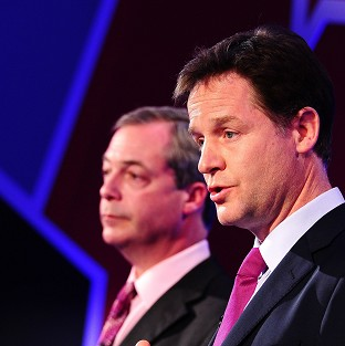 Nigel Farage and Nick Clegg took part in TV debates about Europe