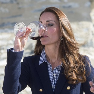 Duchess enjoys wine following birth