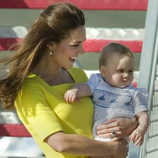 Halstead Gazette: The Duke and Duchess of Cambridge and Prince George arrive at Sydney Kingsford Smith Airport on a Royal Australian Air Force aircraft during the tenth day of their official tour to New Zealand and Australia