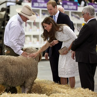 Kate wigs out at Aussie Easter show