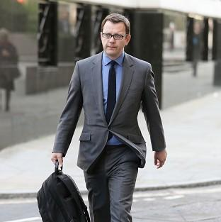 Former News of the World editor Andy Coulson arrives at the Old Bailey, as the phone-hacking trial continue