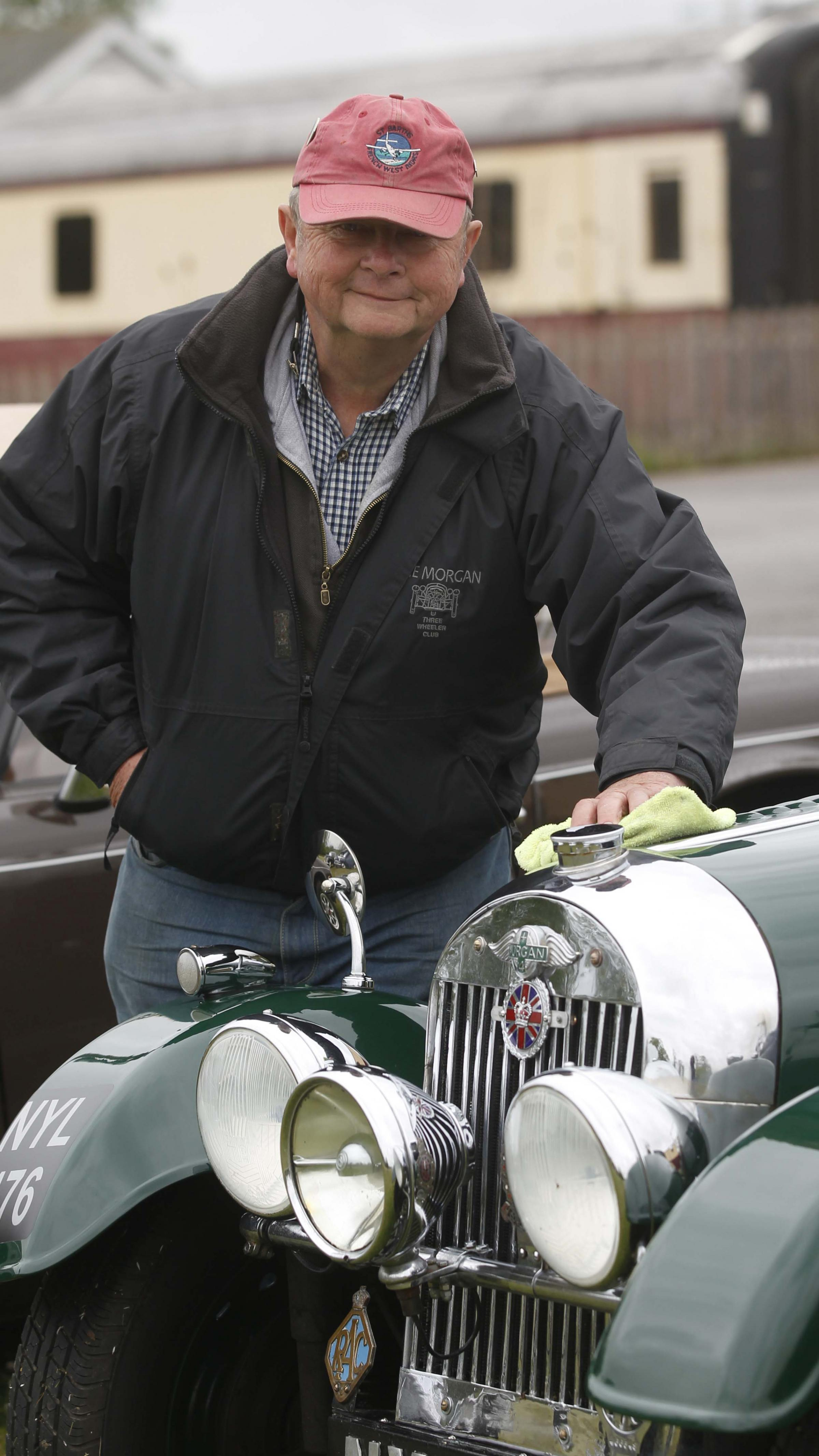 Martin Brown exhibits his pride and joy - a Morgan car.