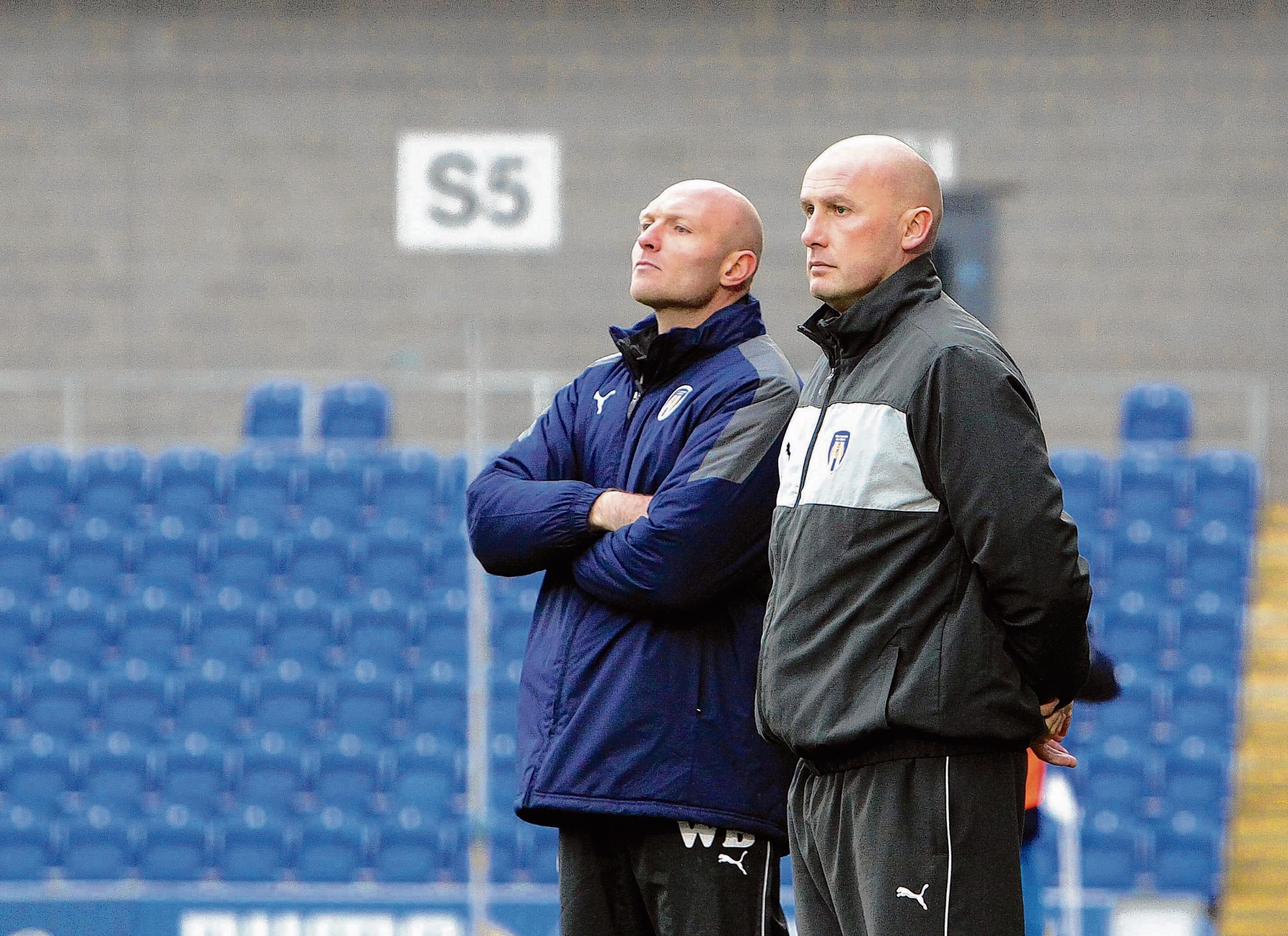 Up for the cup - Wayne Brown (left) and John McGreal will be hoping to lead Colchester United under-18s to victory in their Youth Alliance Cup Final tonight. Picture: STEVE ARGENT (CO72711-22)