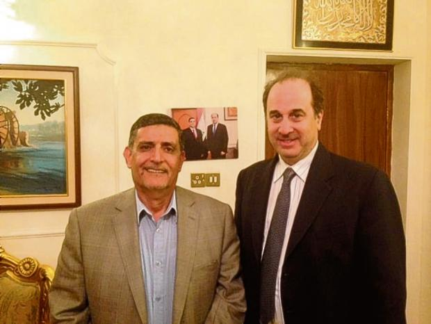 Brooks Newmark with Iraqi politician Salman Al Saady