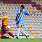 Halstead Gazette: Macauley Bonne gives Colchester the lead. Picture: Richard Blaxhall/Colchester United